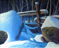 Winter Fence Line, 16 x 20, $250 GP $900..