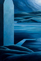 """The Edge""...acrylic on canvas  72""x36"""