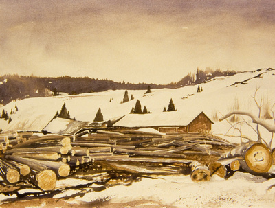 Winter at the Mill - Sold