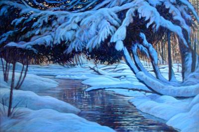 Winter Stream   -Sold